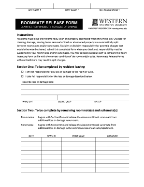 Roommate Release Agreement - Fill Online, Printable, Fillable ...