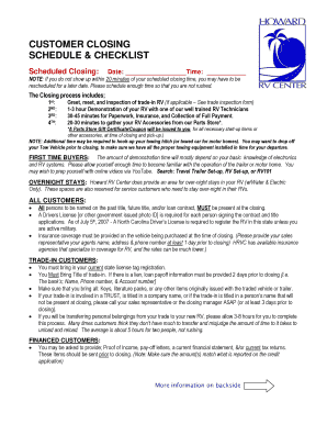 Printable Rv Departure Checklist Edit Fill Out