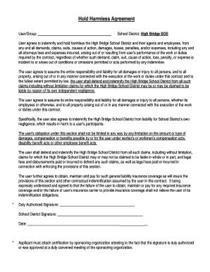 Free hold harmless agreement pdf to download editable fillable free hold harmless agreement pdf platinumwayz
