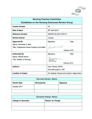 Nursing Peer Review Template