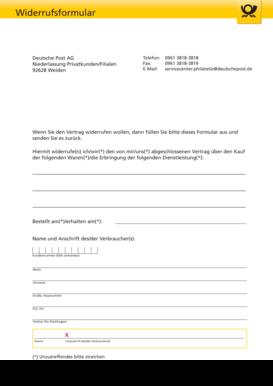 Widerrufsrecht Und Muster Widerrufsformular Timetex 6