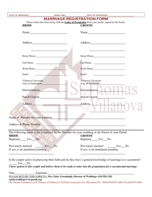 Marriage Certificate Form Pdf
