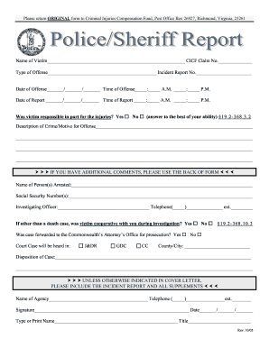 19 printable fillable police report forms and templates fillable