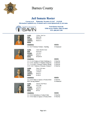 County Jail Roster