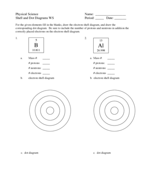 shell and dot diagram ws answers