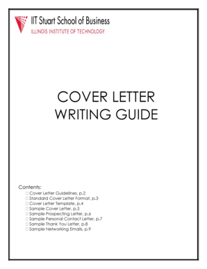Cover Letter Guide - IIT Stuart School of Business - Illinois Institute of