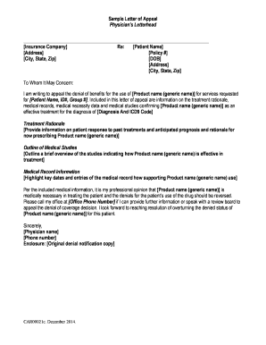 Submit letter of medical necessity template PDF Forms and ...