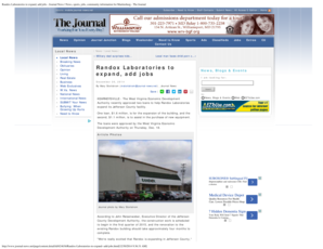 Randox Laboratories to expand add jobs - Journal News News sports jobs community information for Martinsburg - The Journal