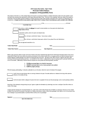 Editable release for property damage in auto accident form ...