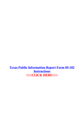 Fillable Online Texas Public Information Report Form 05-102 Fax ...