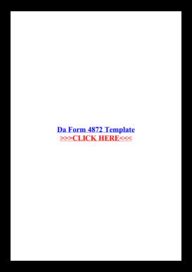 Da 4872 - Fill Online, Printable, Fillable, Blank   PDFfiller