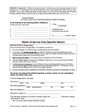 Editable Voluntary Child Custody Agreement Form Texas Fill
