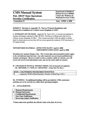 fillable online subject revision to appendix w survey protocol rh pdffiller com state operations manual appendix w 2018 State Operations Manual Appendix J