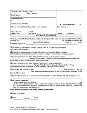 Editable affidavit of personal service ny family court