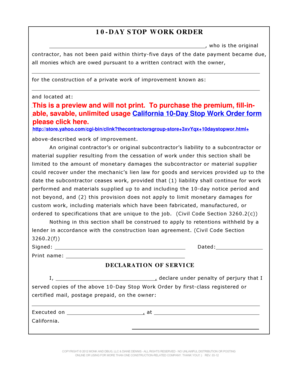 Stop Work Order Hoow To Fill It - Fill Online, Printable, Fillable ...