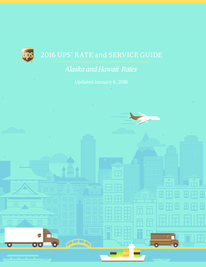 Fillable Online 2016 UPS Rate and SeRvice GUide Fax Email