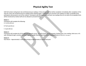 Physical Agility Test - Horry County