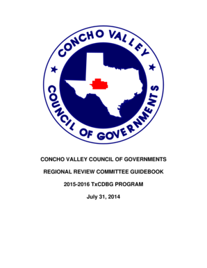 Fillable Online Texasagriculture CONCHO VALLEY COUNCIL OF