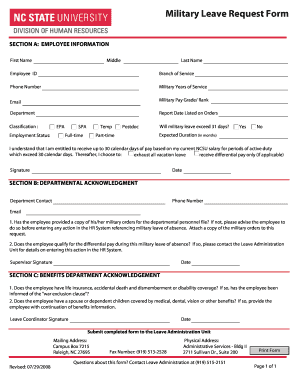 Printable Military leave request form - Fill Out & Download Top ...
