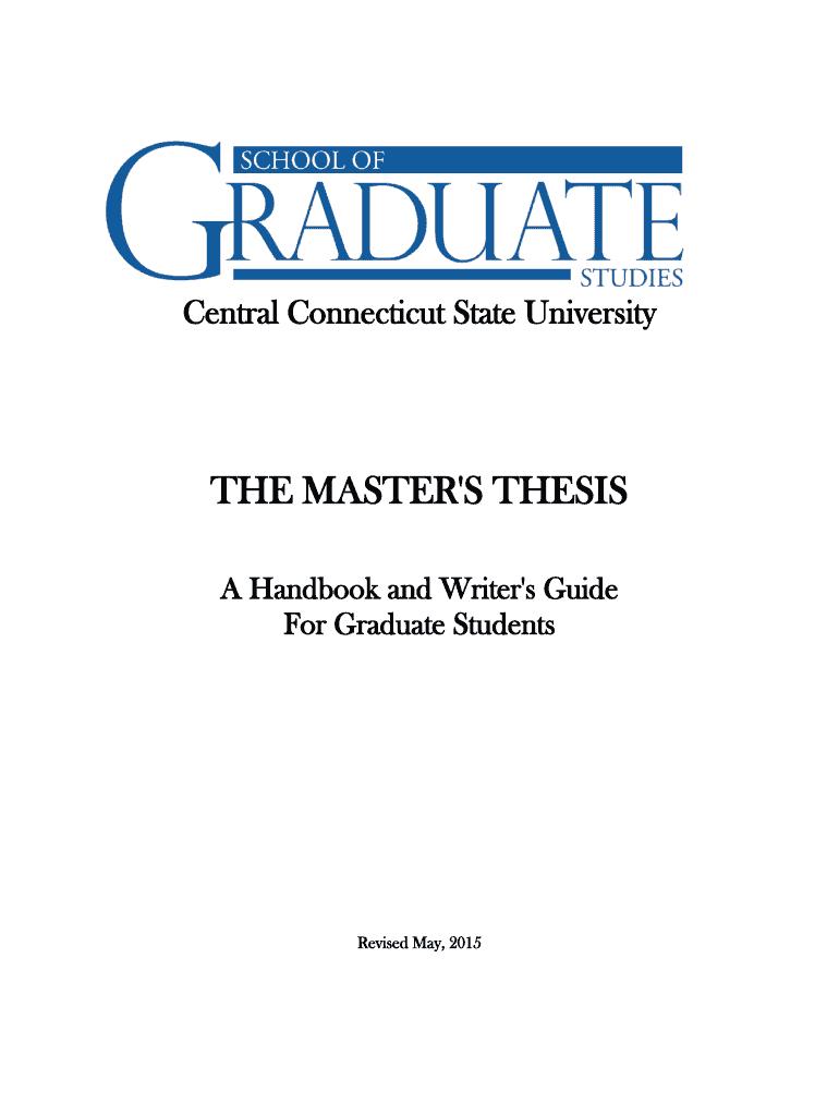 ccsu masters thesis handbook