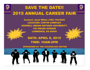 SAVE THE DATE 2015 ANNUAL CAREER FAIR - haskell
