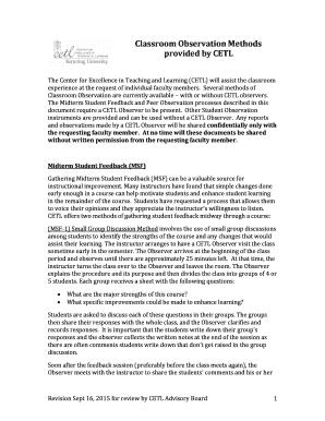 classroom behavior observation checklist - Printable