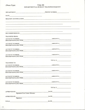 Fillable budget request letter sample - Edit, Print & Download Form