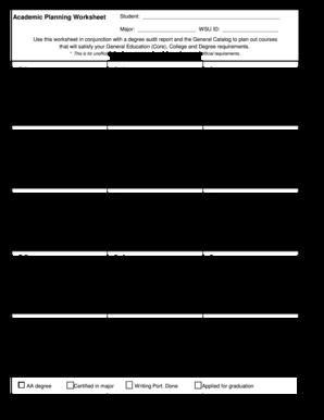 Financial planning worksheet fillable pdf
