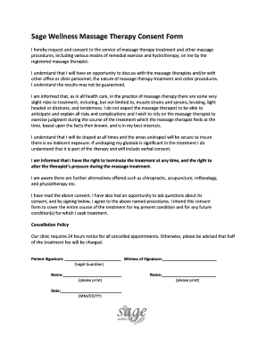 massage therapy forms free download - Fillable & Printable Templates ...