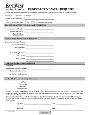 Printable bank of america wire transfer cutoff time - Fill