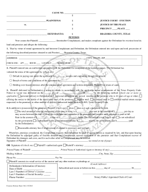 Printable Eviction Notice Texas Free Form Fill Out Download - Free online eviction notice template