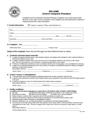 Complaint letter for poor maintenance - Edit, Fill, Print & Download
