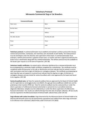 Veterinary Treatment Sheet Template
