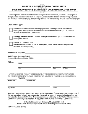 sole proprietors status form ic 02 v12010 sole proprietors election to be - Cover Letter Referred By Employee