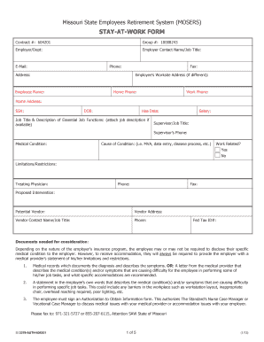 Editable sample leave of absence letter to employer fill print stay at work form mosers 3379auth604201pdf altavistaventures Gallery