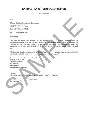 Sample letter of credit request edit online fill print sample letter of credit request missouri housing development commission sample mhdc spiritdancerdesigns Gallery