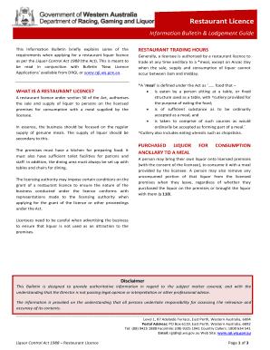 Printable Restaurant Function Sheet Template