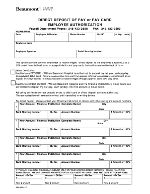 20 Printable social security direct deposit card Forms and Templates