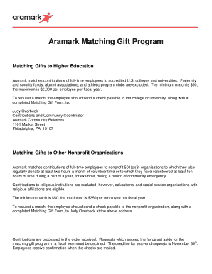 aramark new hire packet - Edit Online, Fill Out & Download