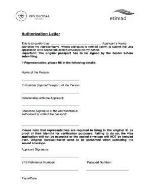 Authorization letter to submit visa application editable authorization letter to submit visa application spiritdancerdesigns Image collections