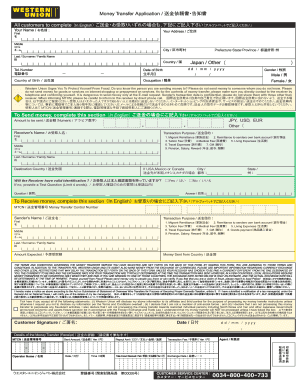 western union send form pdf