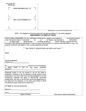 facsimile assignment beneficial interest form