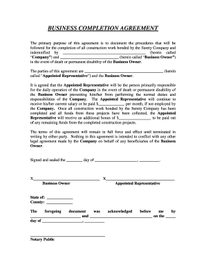 BUSINESS COMPLETION AGREEMENT   Texasfirstbankcom