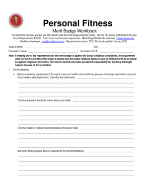 Personal Management Merit Badge Worksheet | Worksheet & Workbook Site