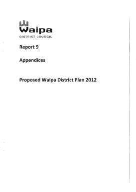 Fillable Online Waipadc Govt Report 9 Appendices Proposed Waipa
