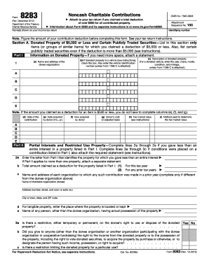 Printable Form 8283 - Edit, Fill Out & Download Hot Tax Forms in ...