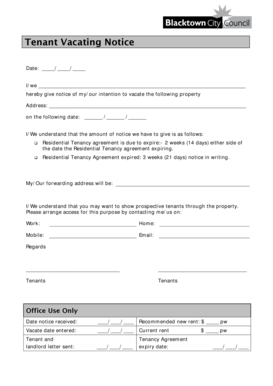 137 Printable Intent To Vacate Letter Template Forms