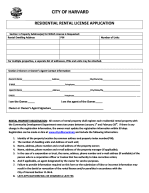free rental application template