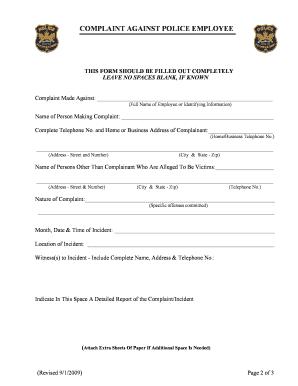 Employee complaint letter sample - Edit, Fill, Print