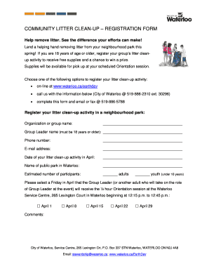 Event registration form template word Fill Out Print Download